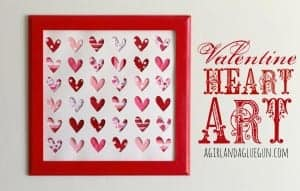 valentine heart art for ribbon retreat