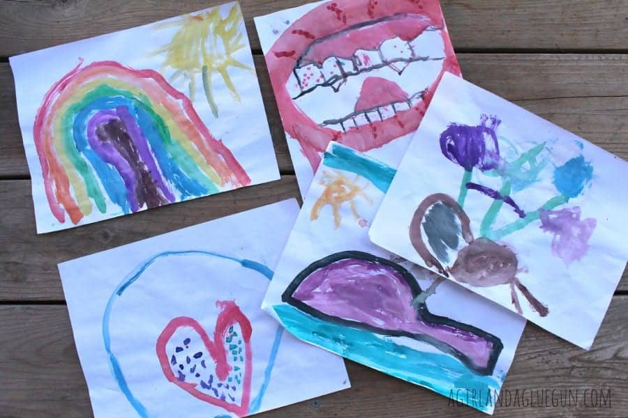 watercolor kids painting craft