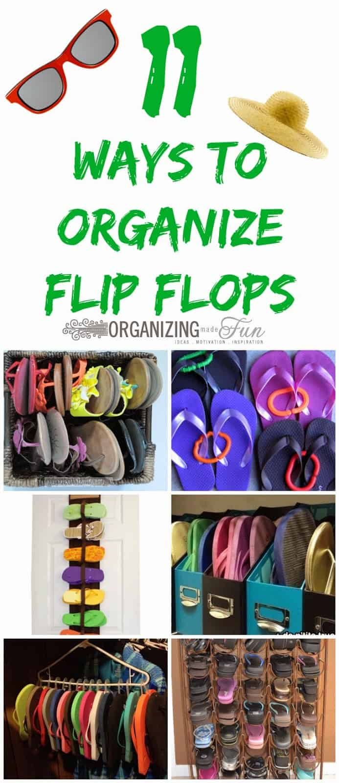 11 Ways to Organize Flip Flops