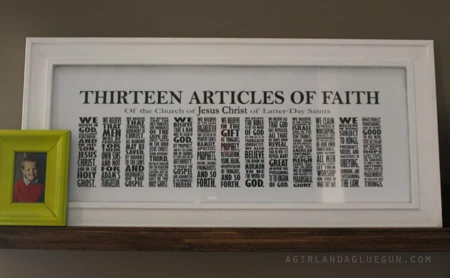 13 articles of faith