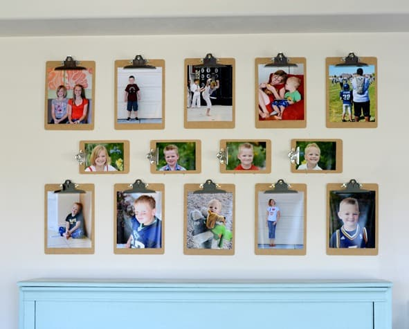 awesome or how about some clipboards dkthumb with ways to hang pictures without  frames.