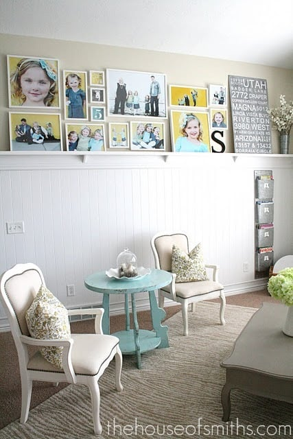 Gallery Wall Layout with IKEA frames
