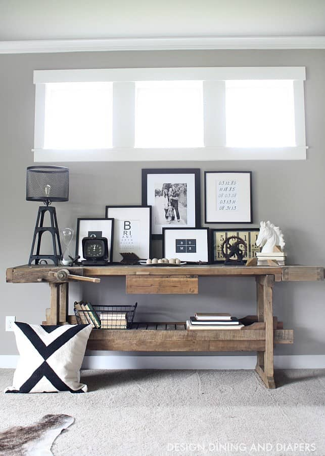 Modern-Rustic-Console-Table-Display-