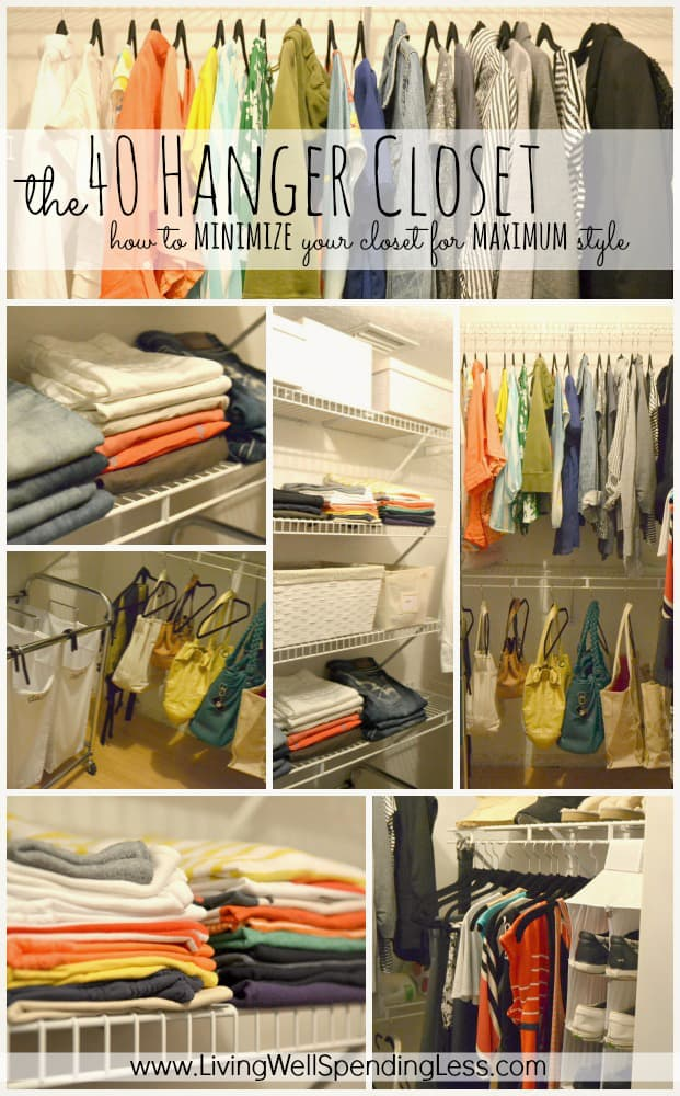 The-40-Hanger-Closet-how-to-minimize-your-closet-for-maximum-style.-This-is-such-a-great-idea.-Invest-in-40-really-nice-hangers-then-get-rid-of-everything-you-dont-absolutely-love.-Great-tips
