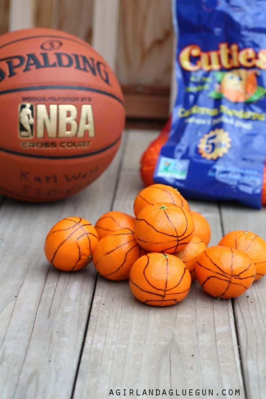 Cutie basketball treats a girl and a glue gun for Basketball craft party ideas