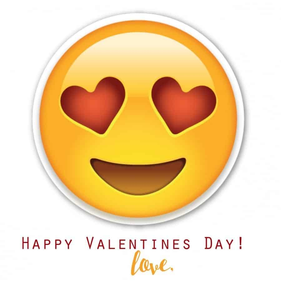 photo relating to Emojis Printable known as Emoji Valentines - A woman and a glue gun