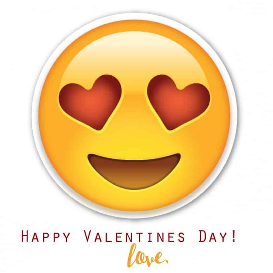 emoji valentine free printable