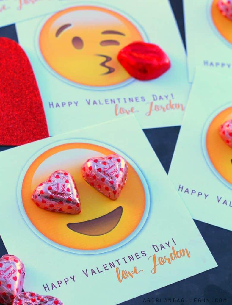 Emoji Valentines A Girl And A Glue Gun