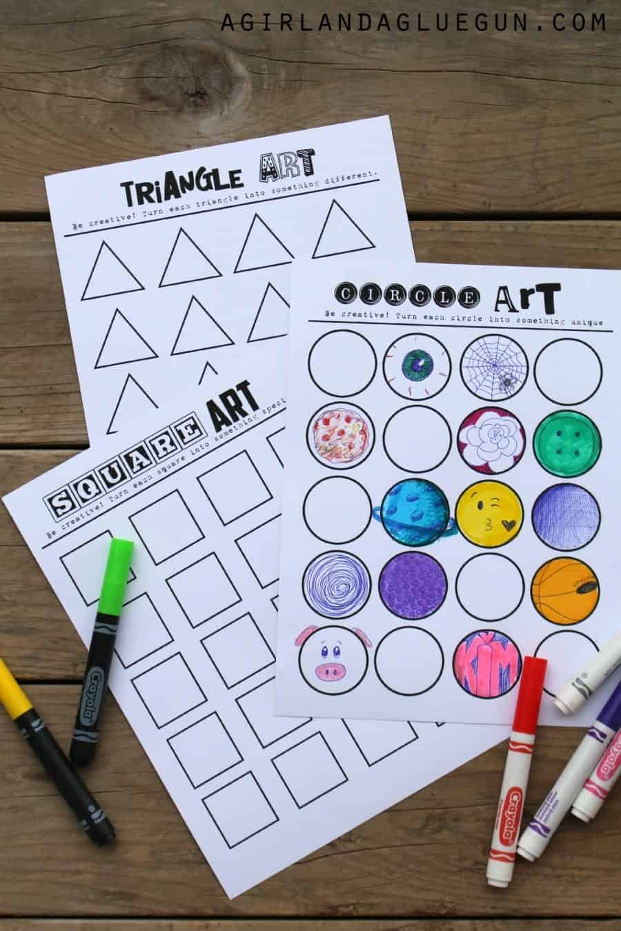geometric art work free printables fun kids crafts