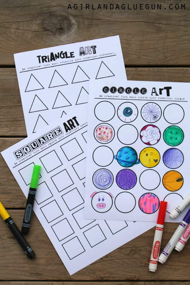 geometric art printablelet your kids imaginations run wild - Free Printable Art For Kids