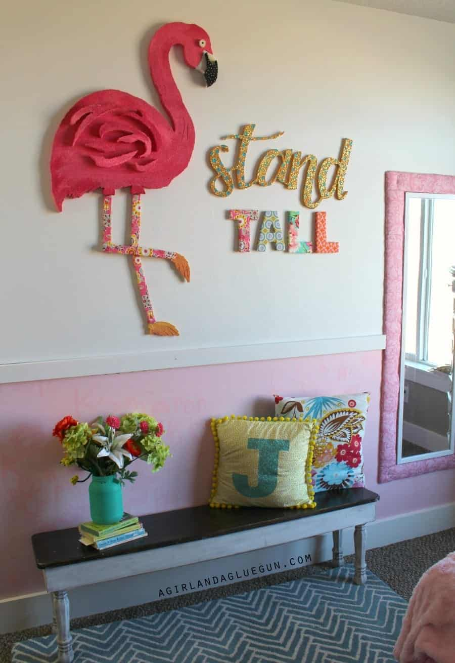 giant pink flamingo diy