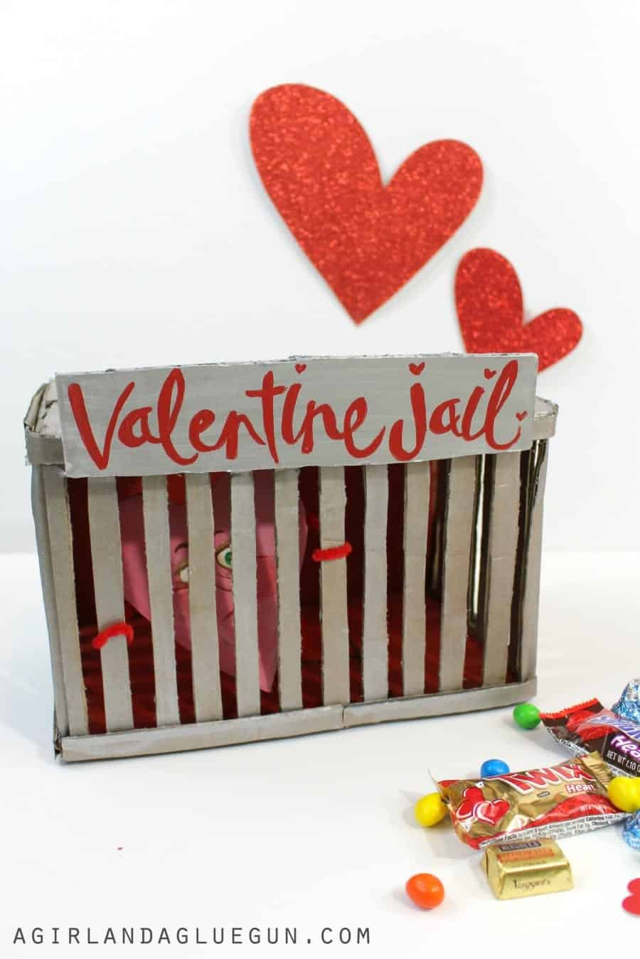 hand painted valentine box