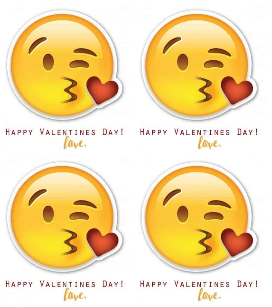 photo regarding Printable Emoji Pictures named Emoji Valentines - A woman and a glue gun