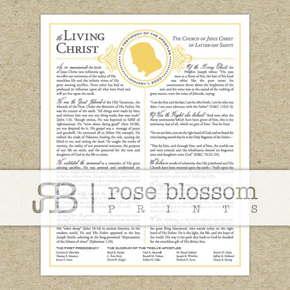image about The Living Christ Free Printable known as lds church printable roundup! - A female and a glue gun
