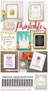 lds church printables roundup