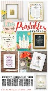 lds church printable roundup!