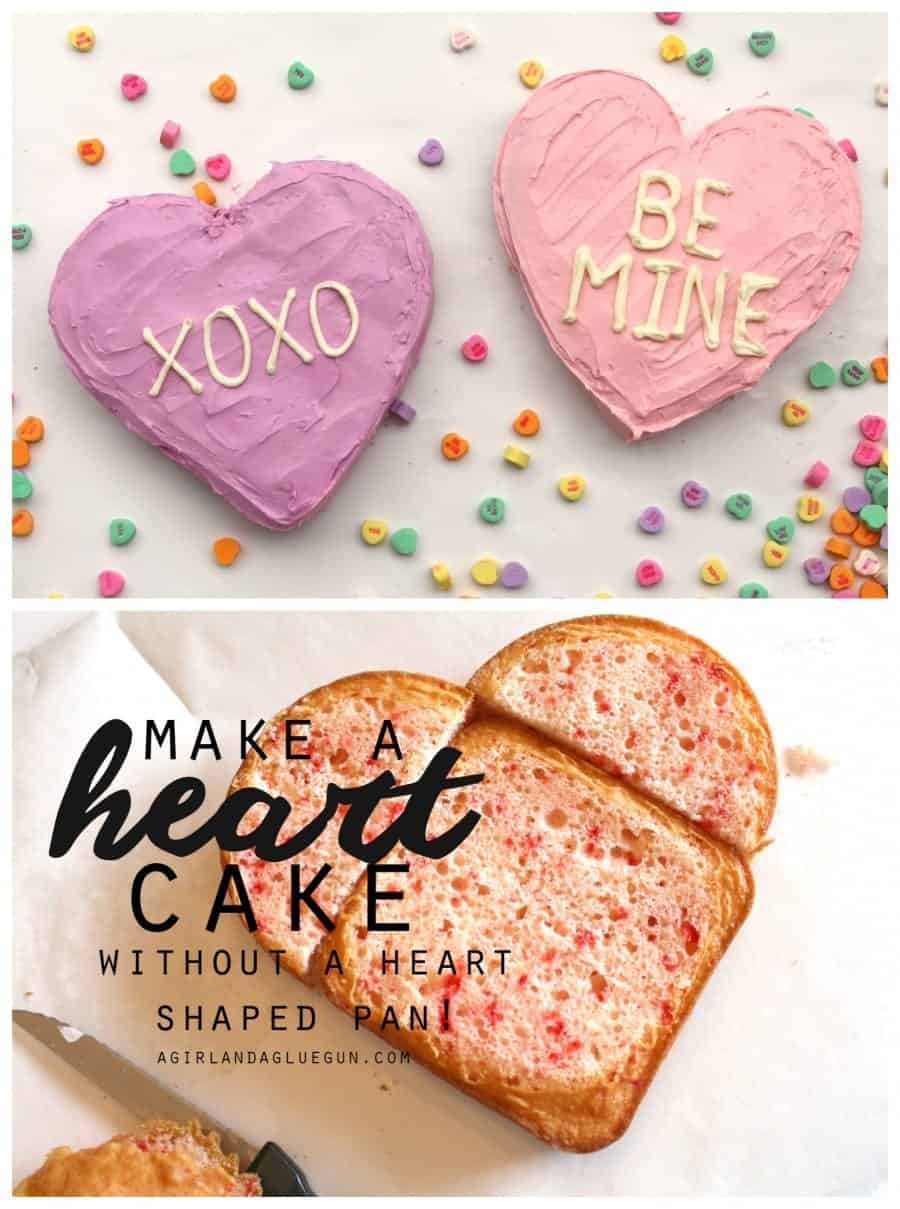 learn to make a heart shape valentine cake without a heart pan!