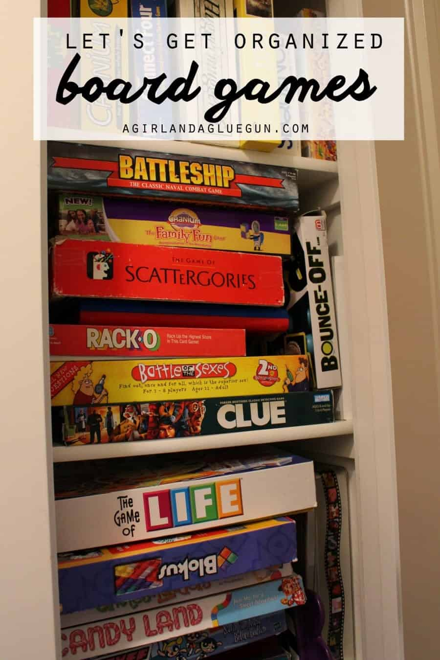 let's get organized board games