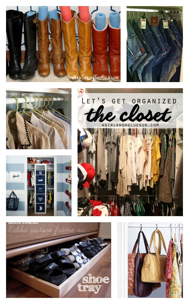 let's organize the closet--tips and tricks to help you declutter