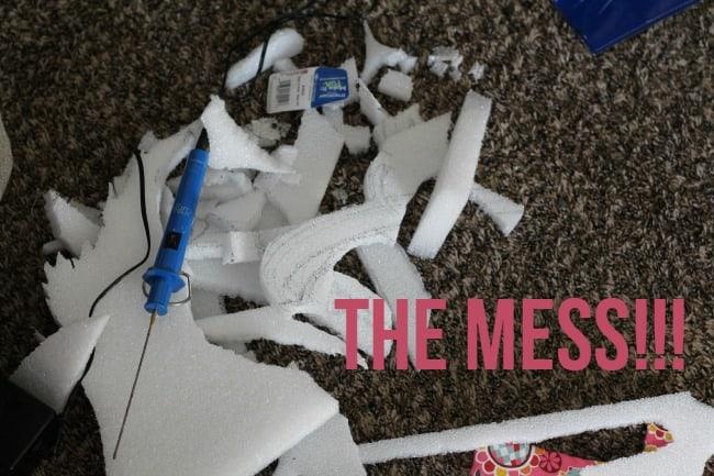 make it fun foam mess