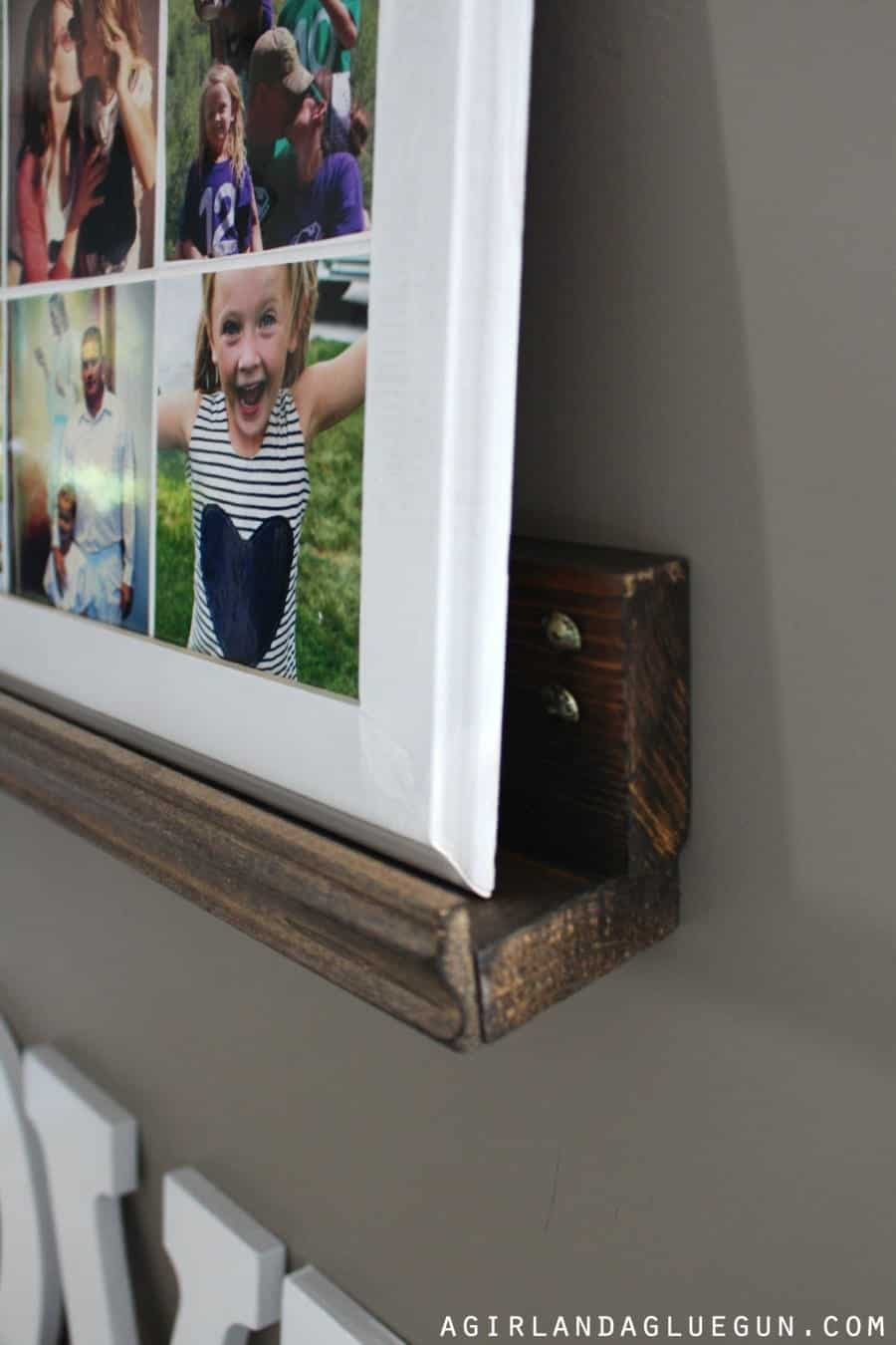 make this easy l shaped shelf perfect for picture frame