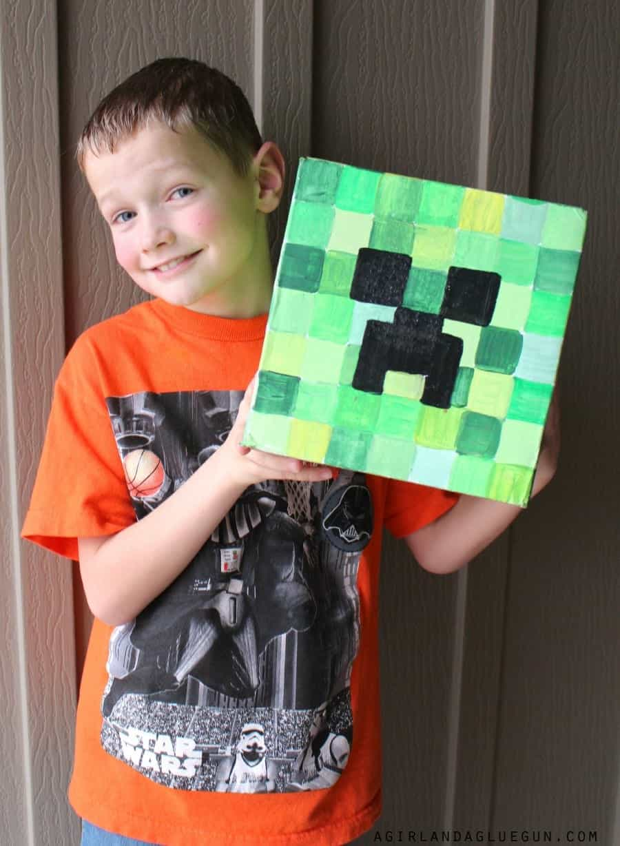 minecraft head diy