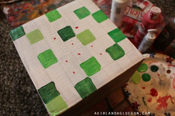 paint minecraft box