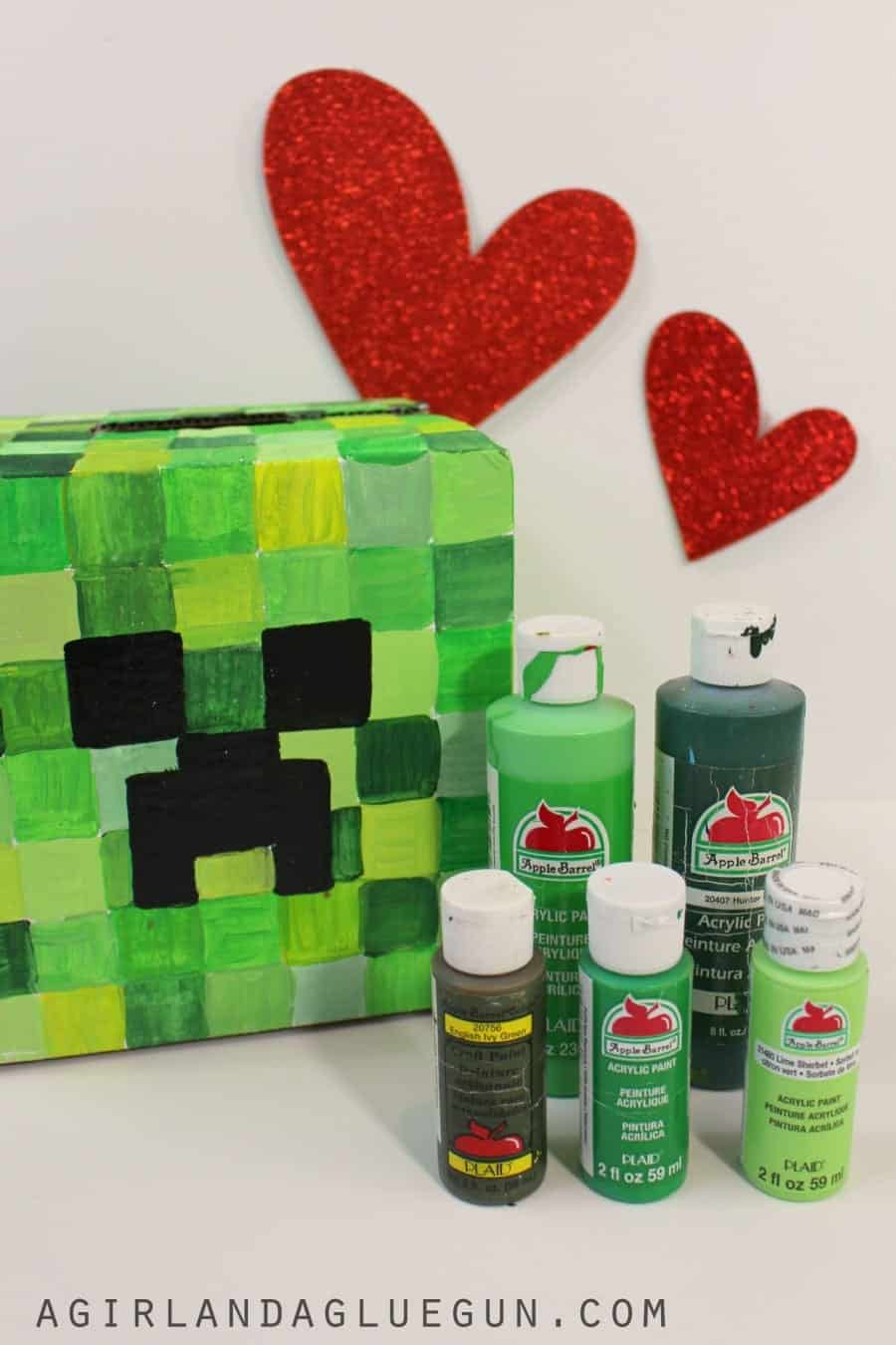 Valentine Days boxes for School with Plaid crafts A girl and a – Valentine Card Boxes for School