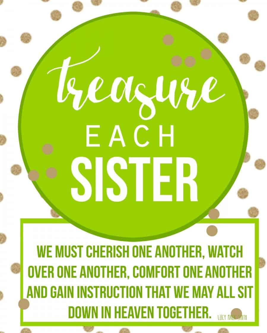 treasure each sister visiting teacher printable