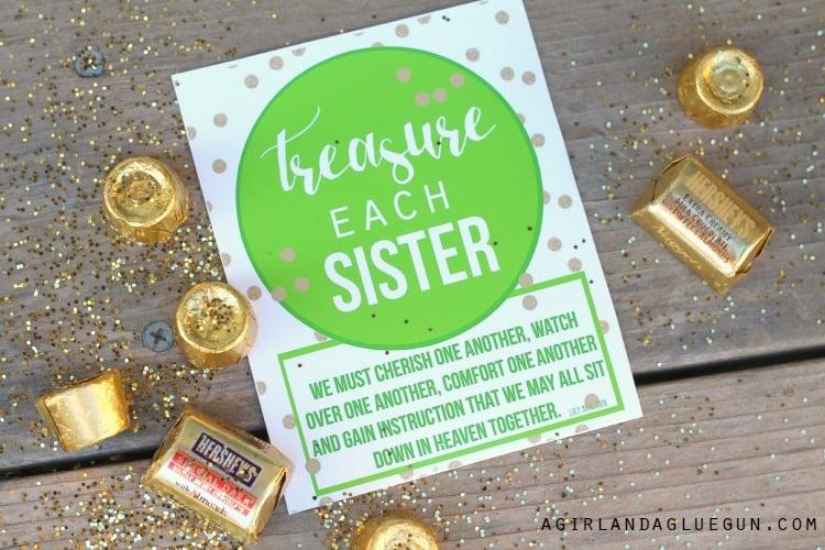 treasure each sister visiting teacher