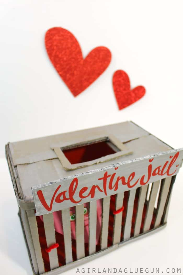 Valentine Day S Boxes For School With Plaid Crafts A Girl And A