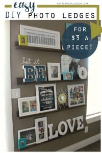 Decorating with pictures—easy diy picture ledges!