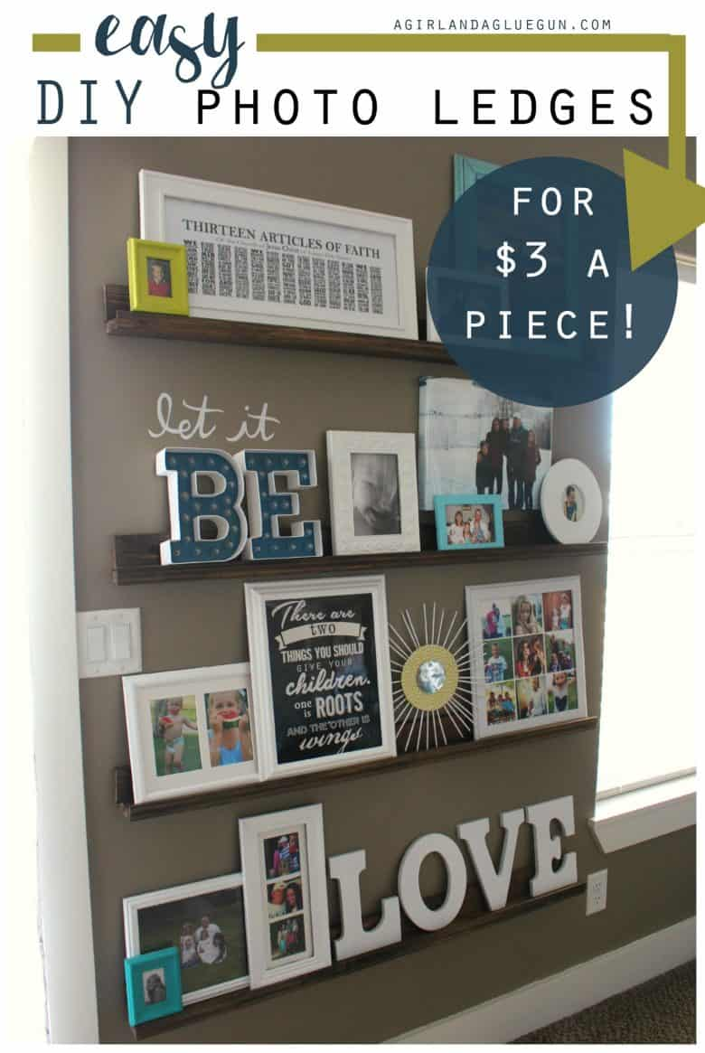Decorating with pictures easy diy picture ledges A girl and a