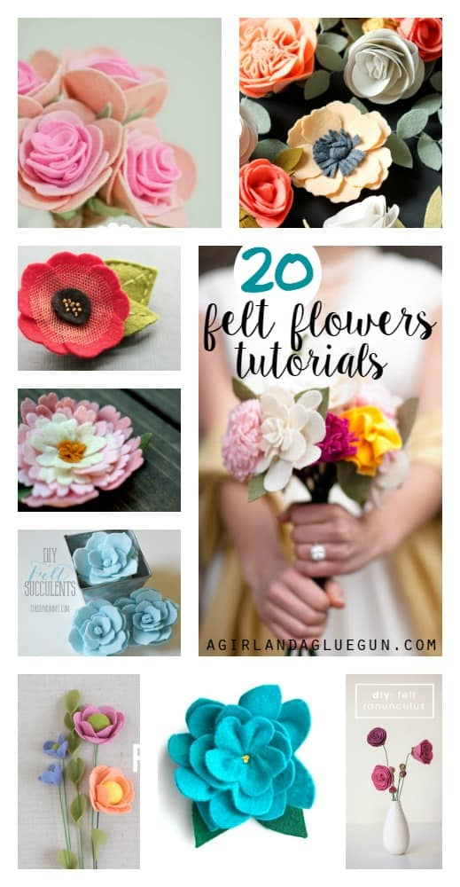 20 felt flower tutorials
