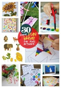 30 super fun ideas for kids artwork