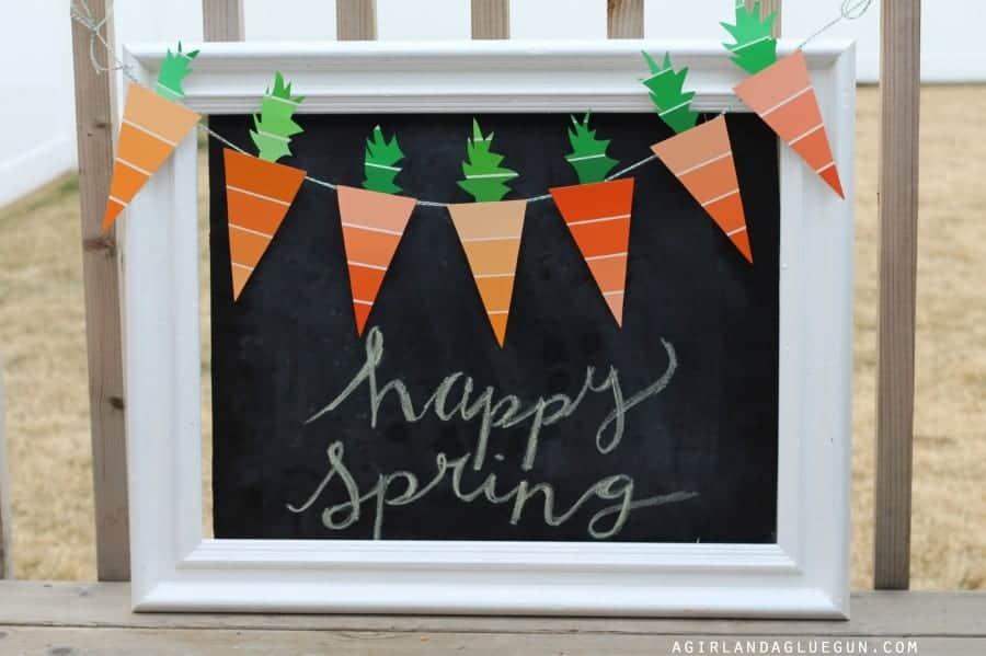 carrot spring garland