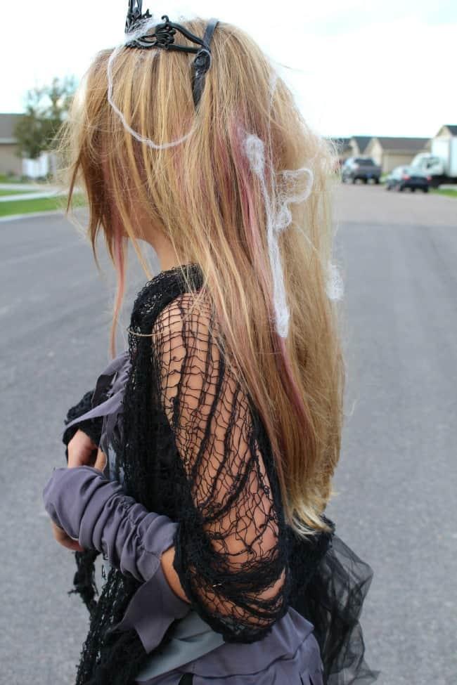 cobwebs in hair