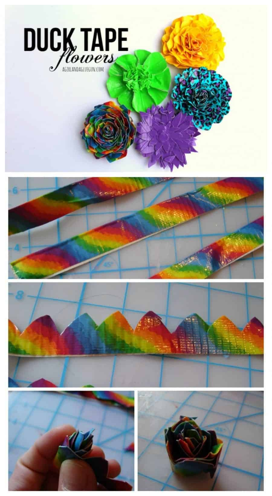 duck tape flowers --3 fun ways