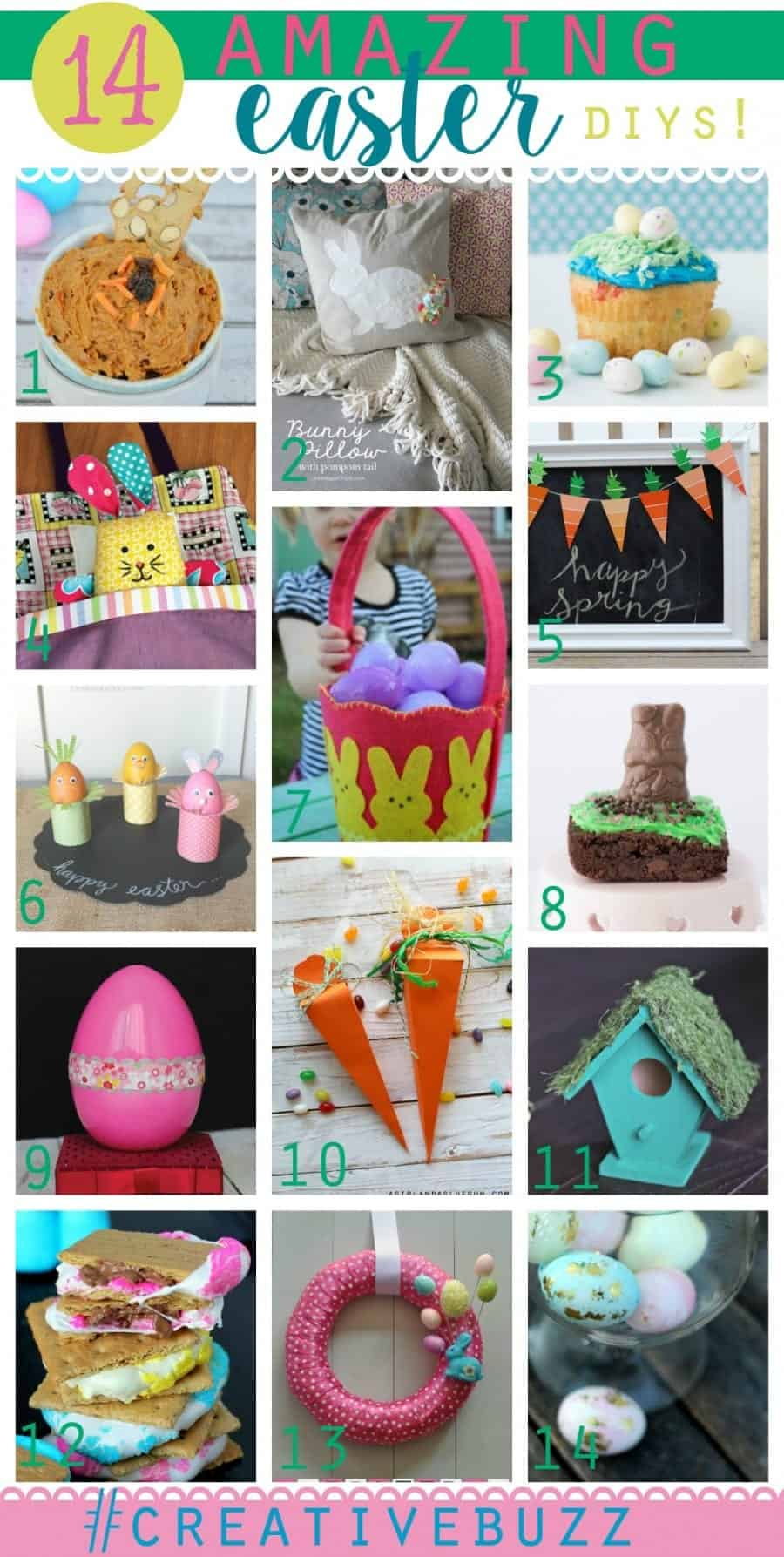 easter diy collage #creativebuzz treats, decor, games, crafts