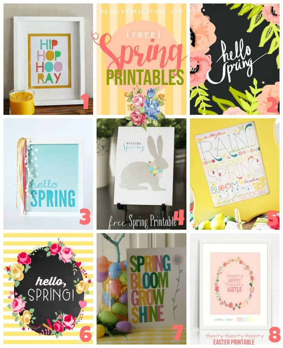 free spring prinatbles-- a girl and a glue gun