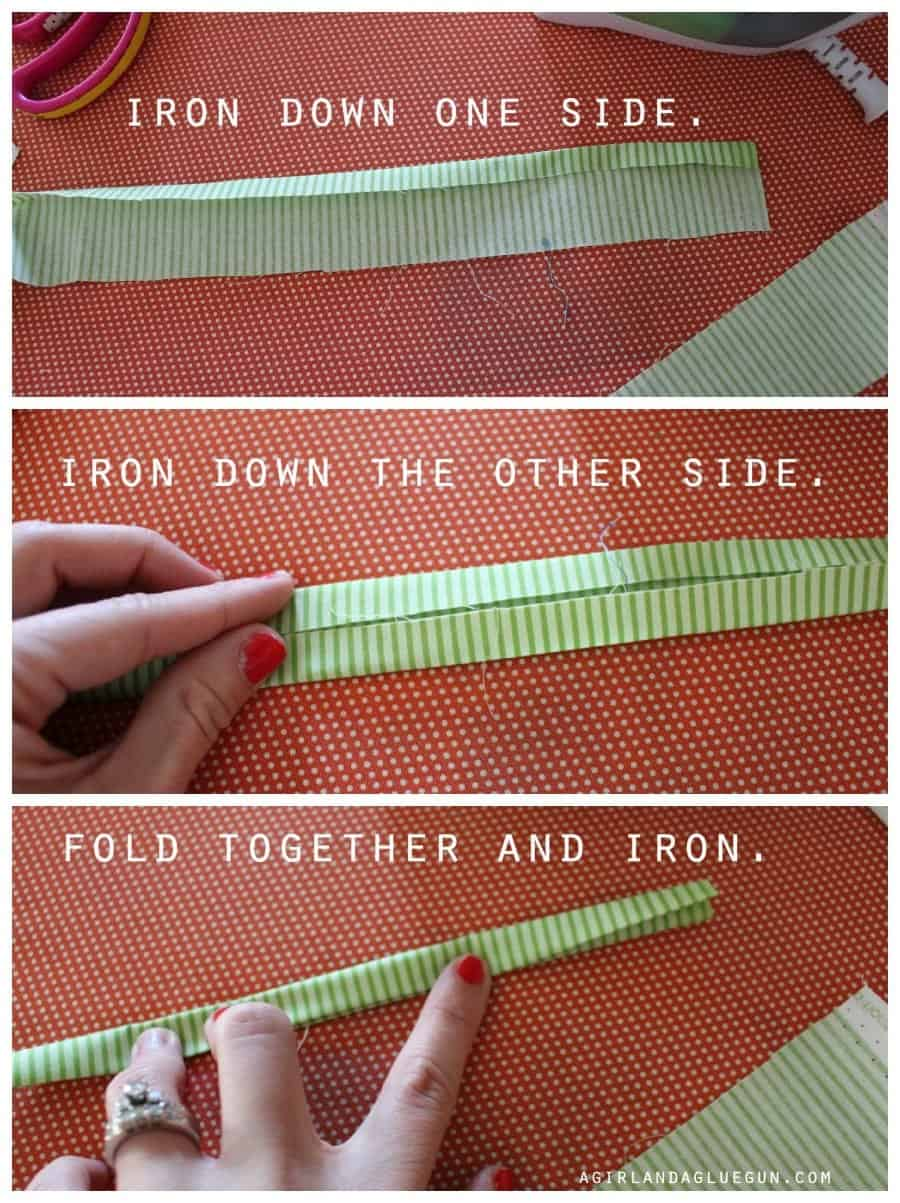 how to make binding--a girl and a glue gun