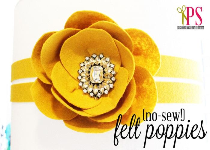 no sew felt poppies