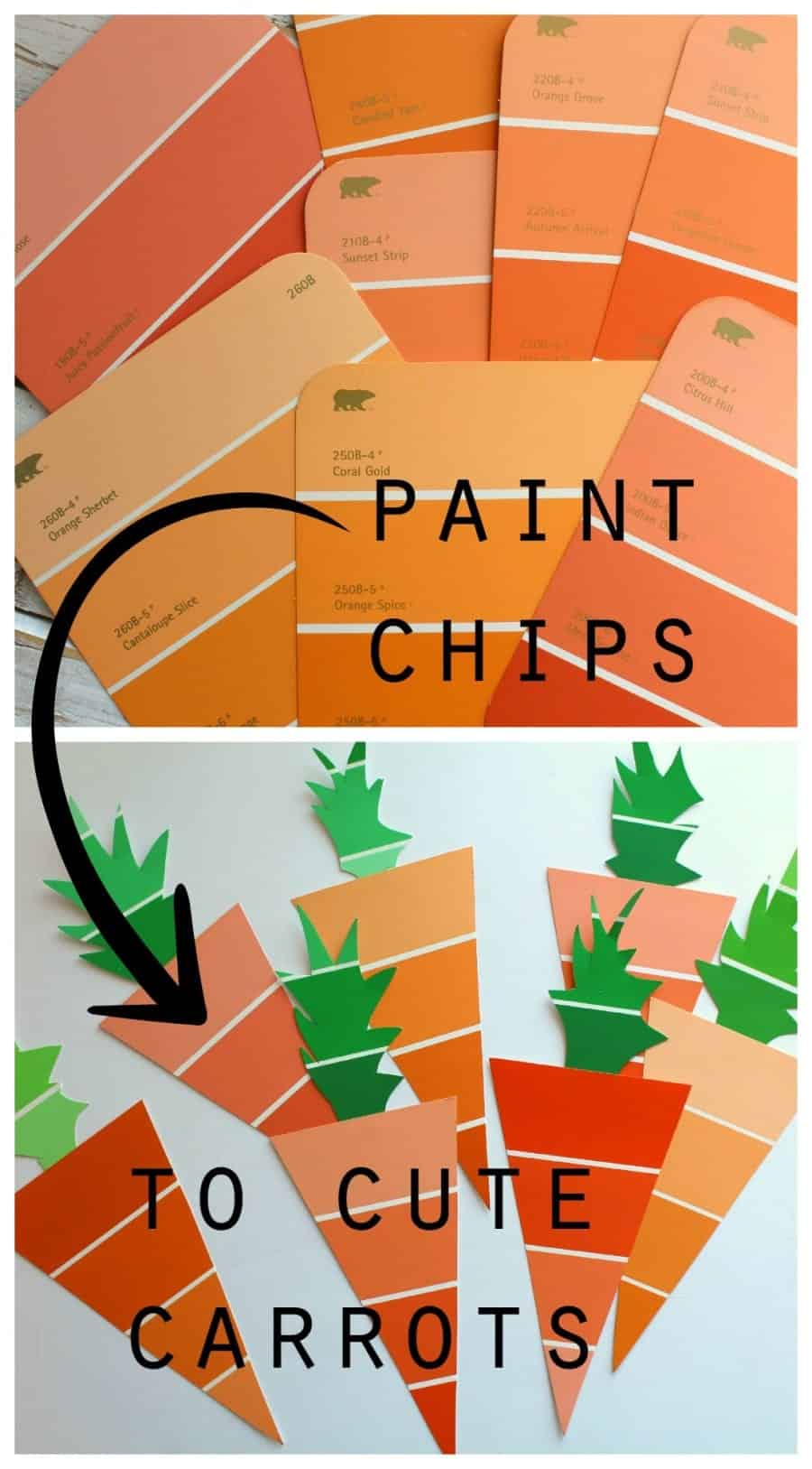 paint chips to cute carrots