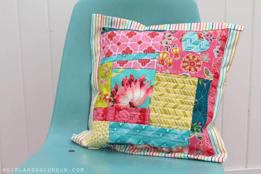 quilted scrap pillow