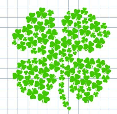 st. patricks day clover pillow design