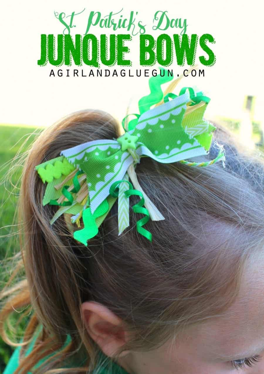 st. patrick's day junque bows