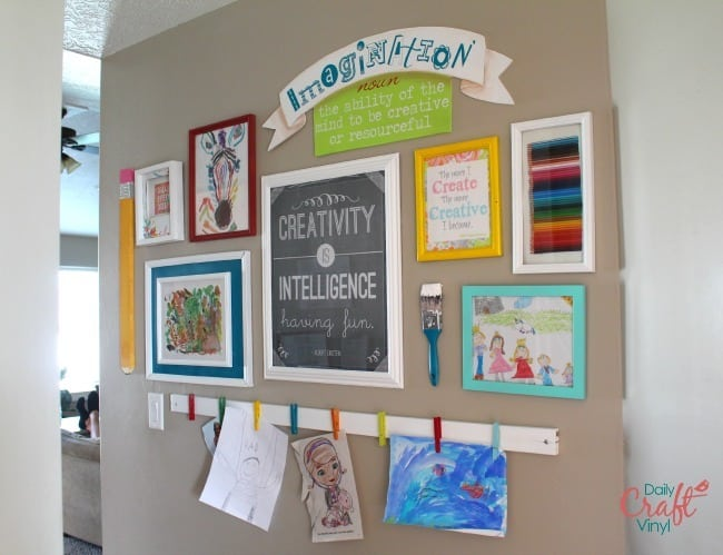 art wall with vinyl saying and definition