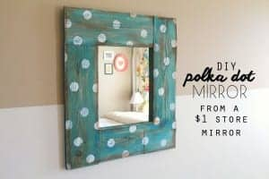 diy polka dot mirror