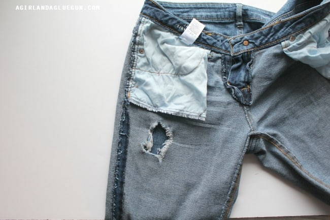 hole in jeans