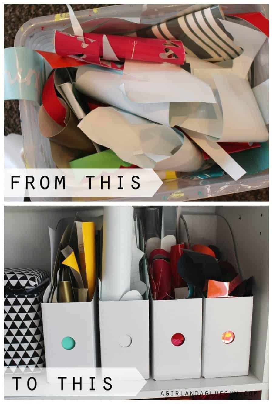 how to store scrap vinyl